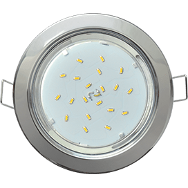 Ecola GX53 H4 Downlight without reflector_chrome (светильник) 38×106