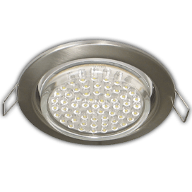 Ecola GX53 H4 Downlight without reflector_satin chrome (светильник) 38×106 — 10 pack